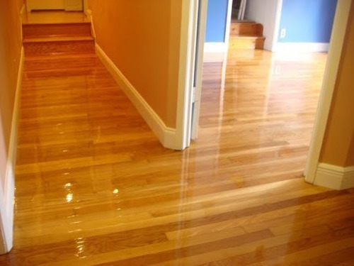 950 $ m2 pulido y plantificado pista de madera