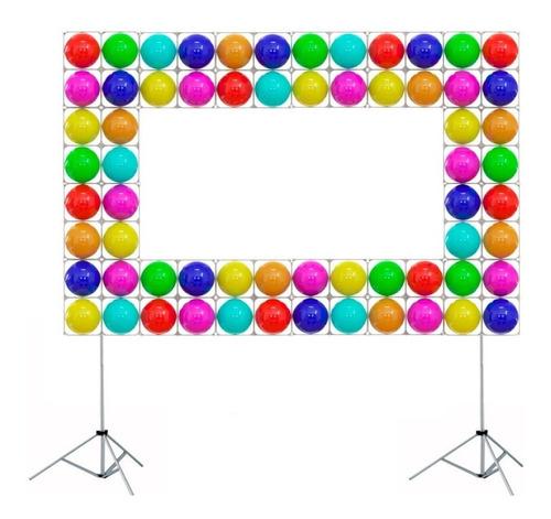 96 tela mágica  balões painel bexigas festa + presilhas