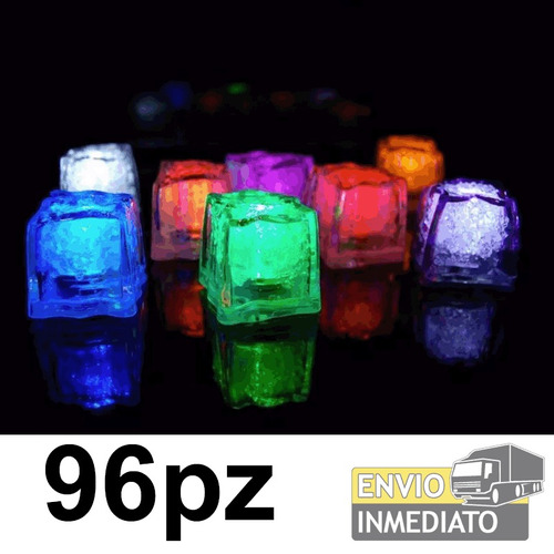 96pzas. led rgb colores tipo hielo sumergible