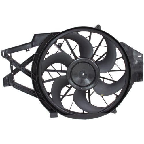 99-04 fd mustang 3.8l rad & cond (s) motoventilador