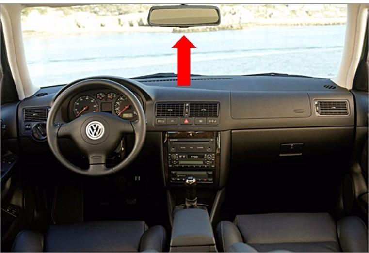 99 10 volkswagen jetta a4 espejo retrovisor interior gris for Espejo retrovisor interior