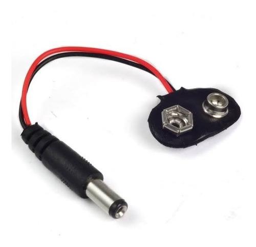 9v cctv câmera bateria clipe adapter com 2.1mm dc plugue