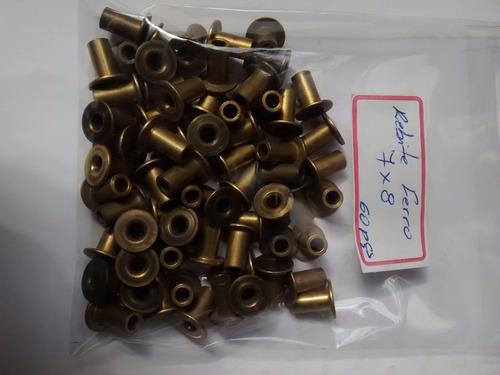 Jg Rebites Ferro 7x8 Jg C/ 60 Rebites Original