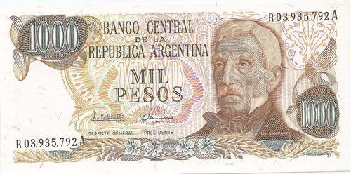 Billete 1.000 Pesos Ley 18.188 Bot.2461 Reposic Sin Circular