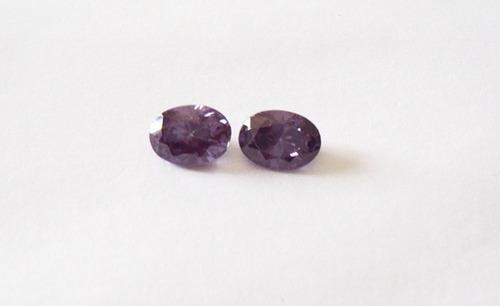 Ametistas Zirconias - 2  Pedras. Original
