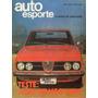 Auto Esporte Nº114 Alfa Romeo 2300 Vw Sp2 Karmann ghia Tc