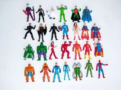 Muñeco Jack Superhéroes Marvel Dc 3,5cm 4 A Elección X $600