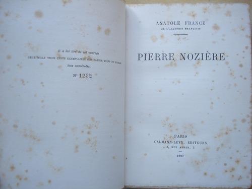 Livro Pierre Noziere - Anatole France - 1927 - Em Francês Original