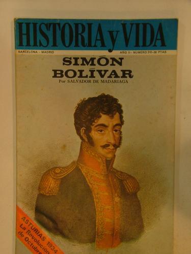 Libro Historia Y Vida Simon Bolivar En La Plata