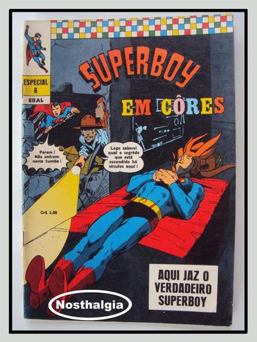 Superboy Em Cores - N. 6 - Ebal - Anos 70 -  F(803) Original