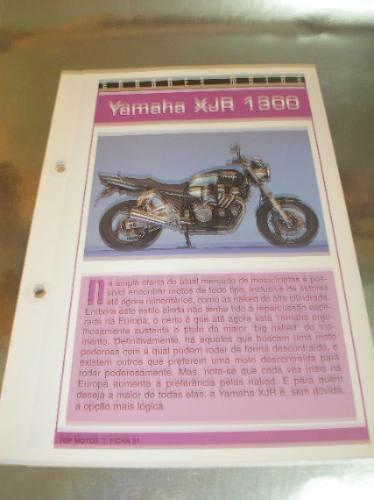 ( L - 430 ) Folder Motocicleta - Yamaha Xjr 1300 Original