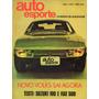 Auto Esporte Nº91 Maio/1972 Vw Sp2 Suzuki 100 Fiat 500