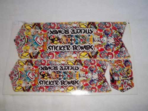 Adesivo Colante Para Bike Sticker Bombs - Preto Original