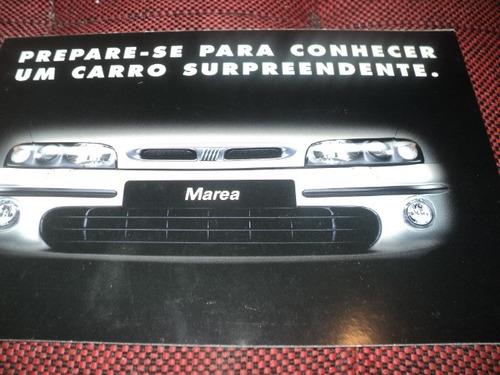 Marea Fiat 1998 Folheto Concessionaria Original