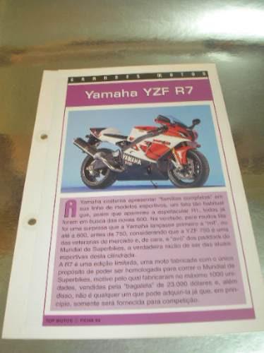 ( L - 430 ) Folder Motocicleta  Yamaha Yzf R7 Original