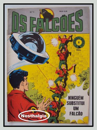O Juvenil Mensal - N.6  - Os Falcões - Ebal - 1968 - F(545) Original