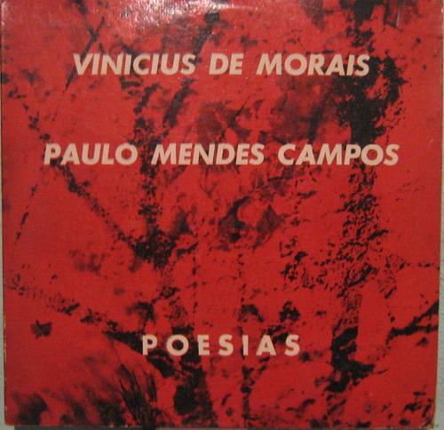 Vinicius De Morais/paulo Mendes Campos - Poesias - 10 Poleg. Original