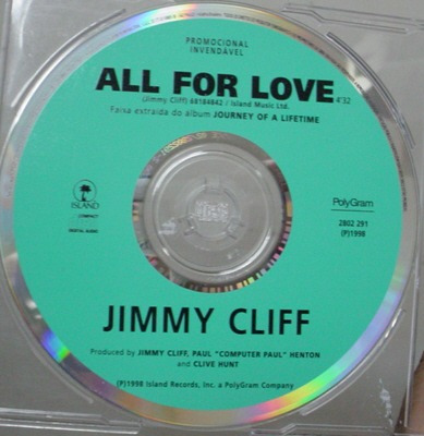 Single  Jimmy Cliff -  All For Love - B133 Original