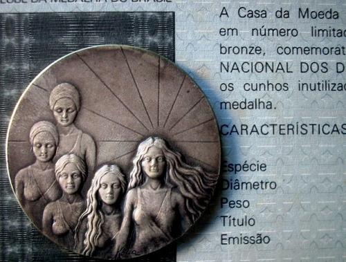 Medalha Prata 1º Ano Conselho Dos Direitos Da Mulher Certif Original