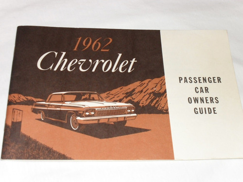 Chevrolet 1962 Manual Do Proprietario Original