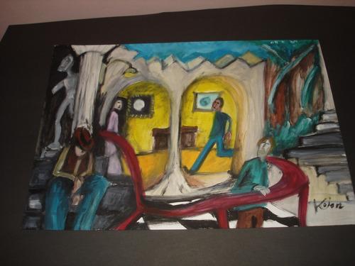 Pintura - Óleo Sobre Papel A3 - O Museu Original