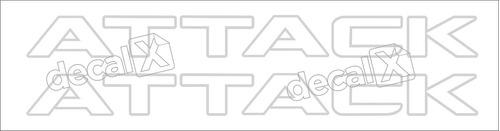Adesivo Nissan Frontier Attack 2012 Par Cinza Claro Original