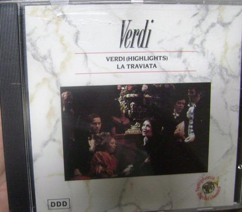 Cd  Verdi  /  La Traviata /  Importado - B140 Original