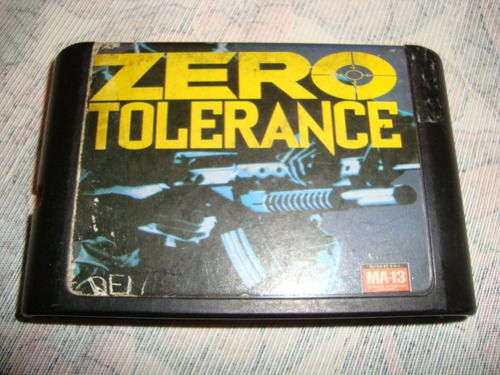 Cartucho Mega Drive Zero Tolerance Made In Japan