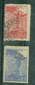 2 Selos Nº 80/81 Visita Do Cardeal Pacelli 1934- Brasil - U Original