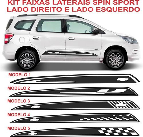Kit  Faixa Lateral Spin  Sport Gm Chevrolet Kit Gm Original