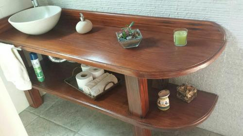 Mueble Para Bacha De Baño Rustico