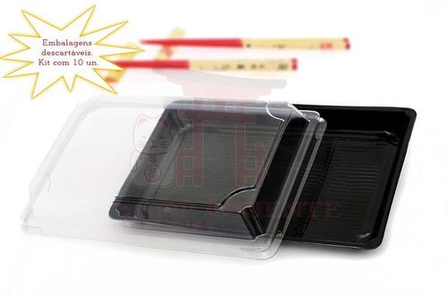 Embalagem Descartável Para Sushi 24 Cm X 17cm (10 Unidade.. Original