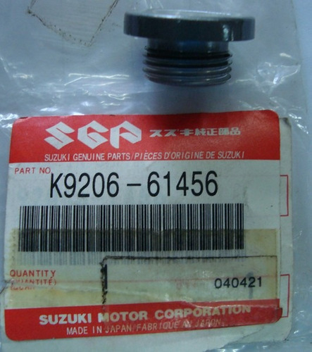 Tampa Do Oleo Suzuki K9206-61456 Original
