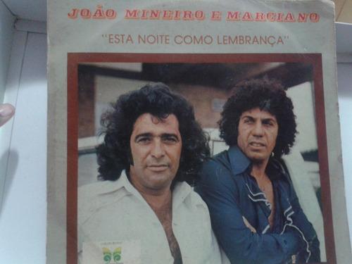 Lp - Vinil - João Mineiro E Marciano - Esta Noite Como Original