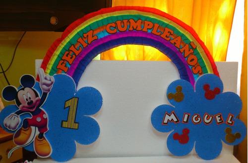Carteles De Cumpleaños Infantiles Cars Mickey Princesas Pepa
