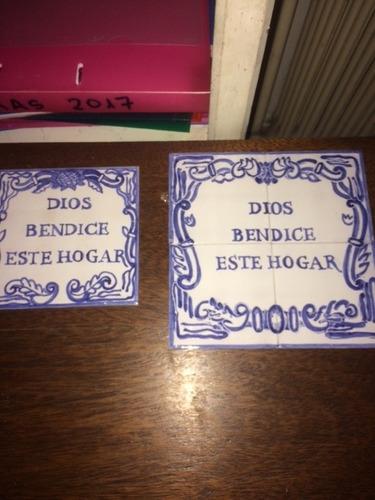 Azulejo - Dios Bendice Este Hogar - 20x20 Cms