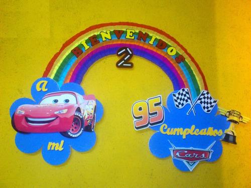 Carteles De Cumpleaños Cars Mickey Frozen Princesa Sofia