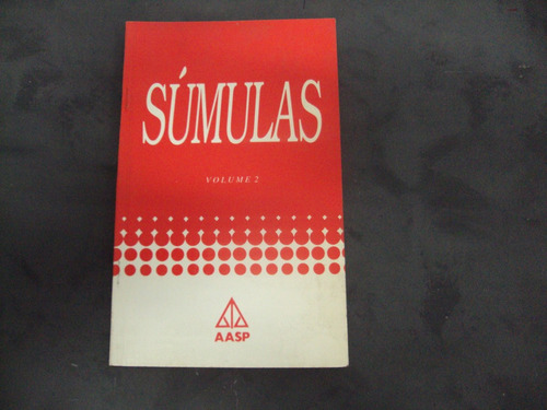 R/m - Livro - Sumulas Vol 2 Original