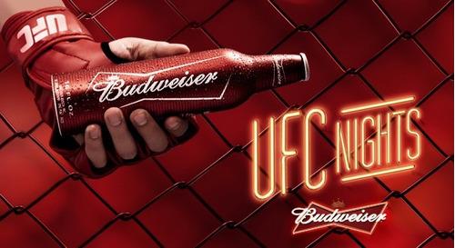Garrafa De Alumínio Budweiser Ufc Lacrada  Edição Limitada