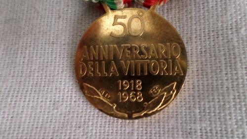 Antigua Medalla Oro 50 Aniversario Della Vittoria No Envio