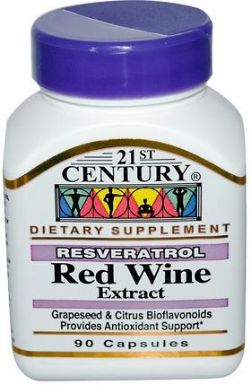 Red Wine Extract Resveratrol Anti Oxidante E Envelhecimento