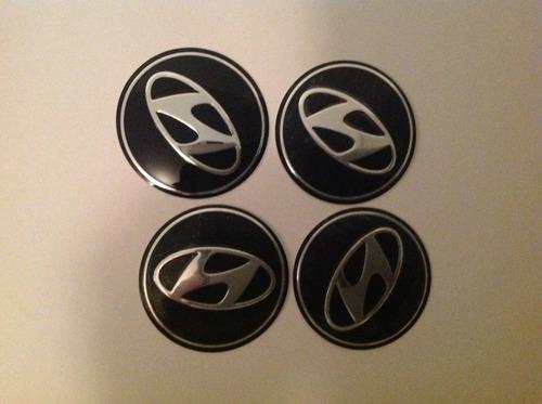 Emblema Hyundai  55mm Para Rodas Esportivas Original