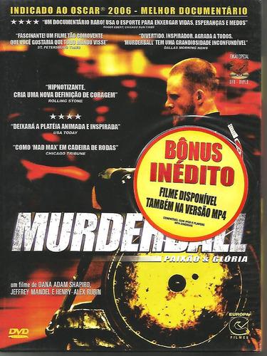 Dvd Murderball  - Digipack Duplo - Lacrado - Novo Original