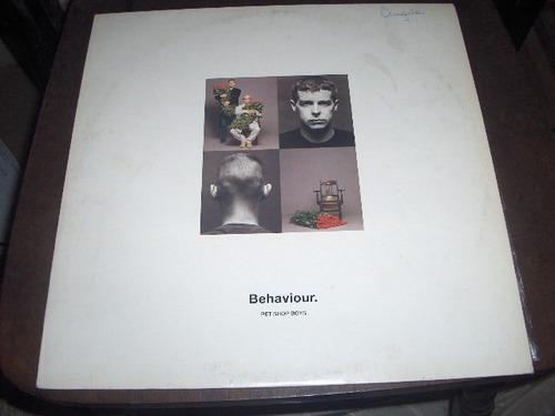 Lp Pet Shop Boys Behaviour Com Encarte Original
