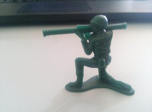 Bonecos Forte Apache Verde Soldado Com Bazuca Original