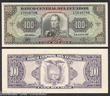 Equador - 100 Sucres De 1.988  - Fe      - 12,00. Original