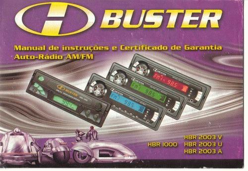 Manual Proprietario Som Buster Diversos Original
