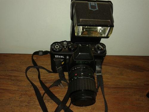 Camera Fotografica Zenit   Antiga Funcionamento Perfeito