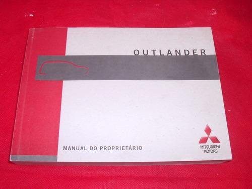 Outlander Mitsubisch Manual Do Proprietario Original