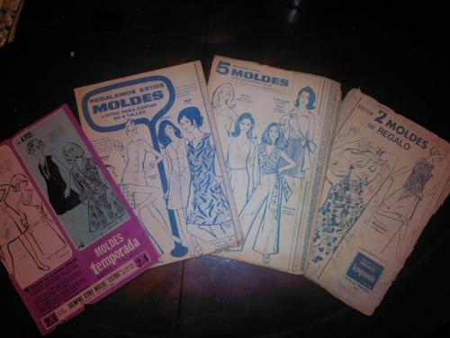 Lote De Moldes Retro Vintage Revista Temporada